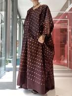 African  batik brown over dress