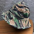 超レア! タイガーストライプ 迷彩柄 ベトナム戦争 カモフラージュ ミリタリー ブッシュハット バケットハット 帽子 59-60cm