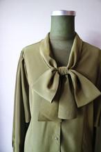 Khaki dolman sleeve blouse