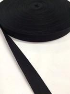 ナイロン 杉綾織(綾テープ) 20mm幅 黒 5mカット
