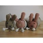 <フェアトレード>草木染め ウサギ の ペンケース 筆箱 手織り ネパール