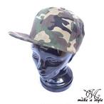 迷彩 キャップ CAP 帽子 カモフラージュ カモ サバゲー サバイバル ウッドランドカモ 885
