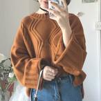 【tops】プルオーバー無地カジュアルセーター23357578