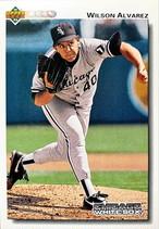MLBカード 92UPPERDECK Wilson Alvarez #573 WHITE SOX