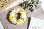 ミモザと紫陽花のイエローリース
