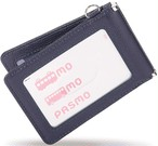 定期入れ メンズ 本革 パスケース 2枚 両面 バタフライ スキミング防止 薄型 / PC4