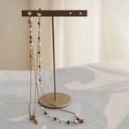 ヴィンテージ ルーサイトパールと真鍮のチェーン(1本・約60センチ)