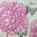 廃番【Paperproducts Design】バラ売り2枚 ランチサイズ ペーパーナプキン PEONY NO.54 ピンク