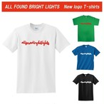 ALL FOUND BRIGHT LIGHTS SIMPLE LOGO T-SHIRTS