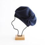 mature ha./beret tuck &gather rib lamb/navy