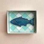 ブローチ・青色の魚