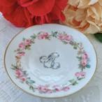 フランス リモージュ手描きの小皿