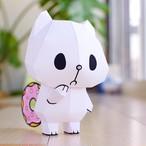 【ドーナツ猫】ペーパークラフト「おすまし編」