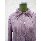 Purple pleats shirt