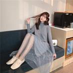 【dress】スパンコール飾りチュールフェアリーお流行りワンピース24903274