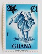 うさぎ・加刷 / ガーナ 1983