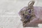 [Iolite]&[precious opal] Pendant〜Mandara〜