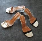 clear heel sandal