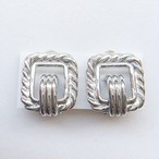 silver square earring[e-565]