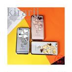メタリック ハート iphoneケース 6s 6 7 7PLUS シリコン おしゃれ かわいいiphoneケース メタル クリアiphoneケース 人気 スマホケース アイフォンケース