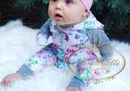 赤ちゃん 服 ようふく 冬 花柄 上下セット 春 夏 秋 冬 60 70 80 90