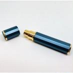 【スプレー容器】8ml 香水 アロマ 消毒液 除菌水 詰替 パフューム 遮光 12角形 青色 金 ボトル 外出先 ポーチサイズ コンパクト 詰め替え