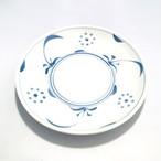 【砥部焼/梅山窯】7寸丸皿・切立(太陽)