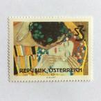 グスタフ・クリムト Gustav Klimt 接吻 オーストリア切手 1964年 切手[161384275]