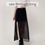 see-through long skirt