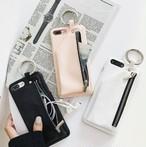 ジッパー 収納付き クール 韓国 iPhone ケース カバー XS MAX XR