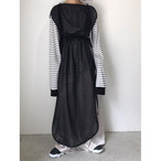piping see-throgh onepiece/black