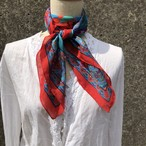 flower printed scarf
