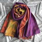 Kantha Silk Stole (7colors stitch)