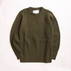 THE INOUE BROTHERS/Solid Jacquard/Crew Neck Sweater/Khaki