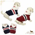4。犬 服 犬服 ペット トレーナー ネイビー レッド 袖あり 秋 冬物 フード