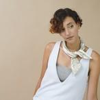 Silk 'Westminster' light grey ヘッドスカーフ/ミニスカーフ