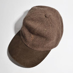 Used☆ Polo Ralph Lauren PONY Logo SUEDE BILL TWEED CAP