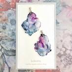水辺に咲くスミレの花|アースカラーのゆれるオーガンジーピアスorイヤリング