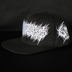 Gluttonous Slaughter Snapback Black x White