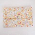 リバティ 母子手帳ケース ベッツィ/オレンジシャーベット Lサイズ マルチケース