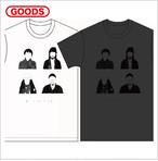 [T-shirts]踊ってばかりの国『NEW MEMBER Tee』White/Sumi