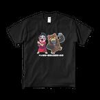 ペッサリー恐子&ゴリラックマTシャツ【ブラック】