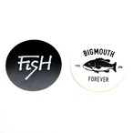 50mm FiSH & BIG MOUTH CIRCLE STICKKER SET