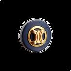 【VINTAGE  CELINE BUTTON】ゴールドフレーム ロゴボタン 2.1cm