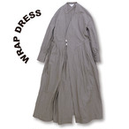 Wrap dress [Gray]