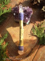薔薇の魔法の杖(ワンド)水晶ポイント&スフィア装着