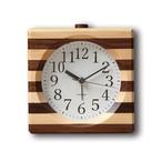 KATOMOKU wooden mosaic square alarm km-18B 生産終了品