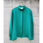 Green stand blouse