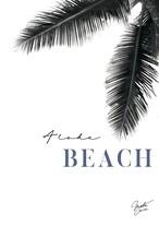 MAHALOVE 作品名:Beach blue A4ポスターアルミフレームセット【商品コード: ml-beach blue】