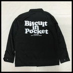 【30%OFF】BISCUIT IN POCKET Coach Jacket【BLACK】